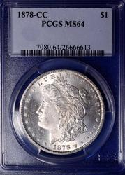 1878-CC Morgan, PCGS MS64