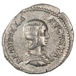 Plautilla Wife Of Caracalla  Ar Silver Denarius Of Rome