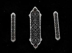 Incredible Antique Pin Set in 14KT