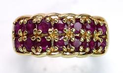Ruby Band Ring In Yellow Gold