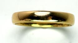Mens Yellow Gold Band Ring, Size 10.5