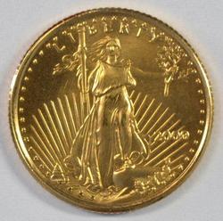 Superb Gem BU Year 2000 $5 American Gold Eagle