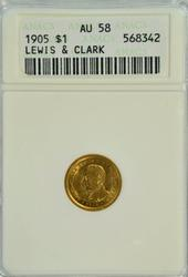 Virtual BU 1905 Lewis & Clark Commemorative Gold Dollar