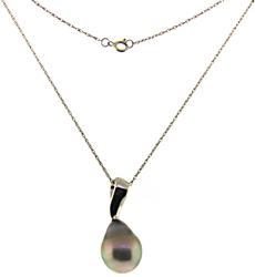 Gorgeous Grey Pearl Pendant Necklace