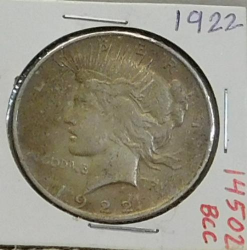 1922 Peace Dollar circ.