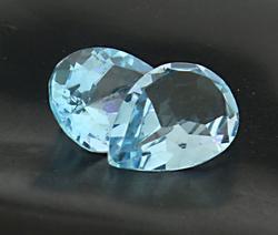 Natural Lot of Two Pear Shaped Aquamarine