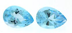 Pear Shaped Lot of 2 Aquamarine Gemstones