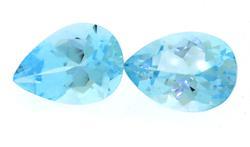 Lot of Natural Pear Shaped Aquamarine