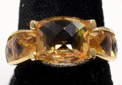 Bold Citrine Ring in 14KT Gold