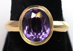 Gorgeous Color-Change Sapphire Ring in 14KT Gold