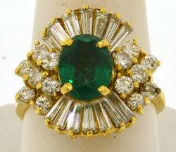 Envious 18KT Gold Emerald Ring