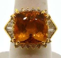 18KT Yellow Gold Citrine Ring