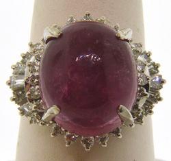 Lady's Pink Tourmaline Ring