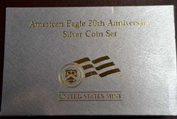 2006 3 Coin Anniversary Silver Eagle Set, OGP