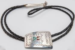 Large Sterling & Coral Bolo