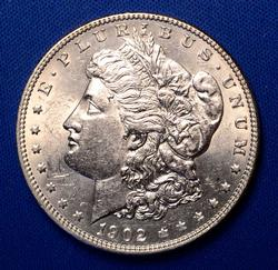 BU 1902 Morgan Silver Dollar