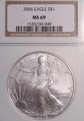 2006 MS69 NGC Silver Eagle