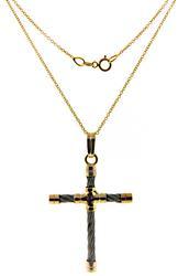 Sterling Silver / 18kt Cross Necklace
