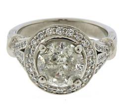 Majestic 2.2ctw RBC w Bezel Diamond Halo Ring
