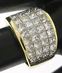 Luxurious Invisible Set Princess Cut Diamond Ring