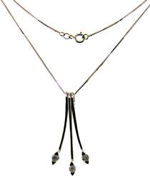 Strong Diamond Dangle Drop Necklace