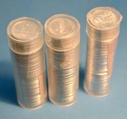 Three BU Rolls of DImes, 61-P, 62-P 62-D
