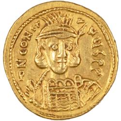 Constantine IV 668-685 AD Byzantine Gold Solidus