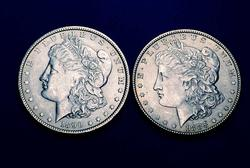 2 BU Morgan Dollars
