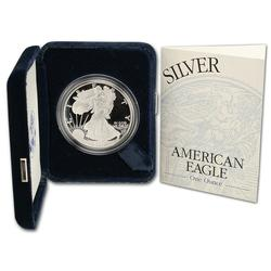 2001 Proof American Silver Eagle, OGP