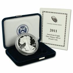 2011 Proof American Silver Eagle, OGP