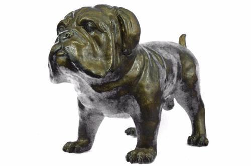 Large Noble English Bulldog Bronze Sculpture