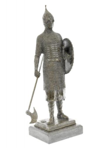 Medieval Art Knight Warrior Middle Ages Bronze Statue