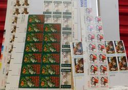 Stamp Sheets & blocks:  Christmas  $16.73 face