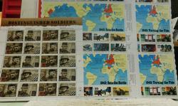 Stamp Sheets:  World War 2  $18.20 face