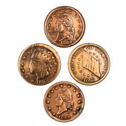 4 Different 1863 CWT