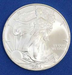 2010 Choice Frosty White BU Silver Eagle With COA
