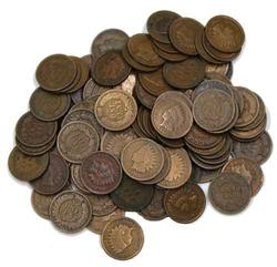 100 Assorted Indian Cents Unsearched