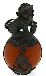 Dragons Feng Shui Ball Foo Dog Lion Holding Coins