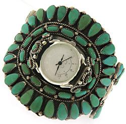 Victor Moses Bagay Turquoise Cuff Watch