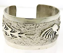 Robert Becenti Sterling Silver Navajo Bracelet