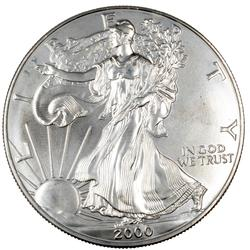 2000 Choice Frosty White BU Silver Eagle