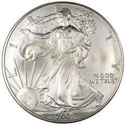 2001 Choice Frosty White BU Silver Eagle