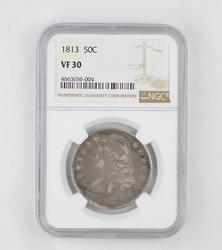 VF30 1813 Capped Bust Half Dollar - NGC Graded