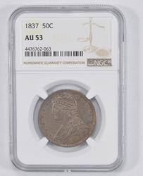 AU53 1837 Capped Bust Half Dollar - NGC Graded