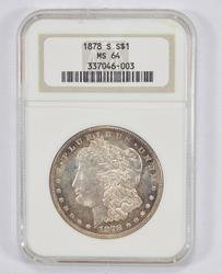 MS64 1878-S Morgan Silver Dollar - NGC Graded
