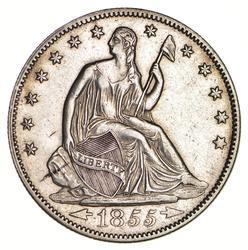 1855 Seated Liberty Half Dollar - Circulated