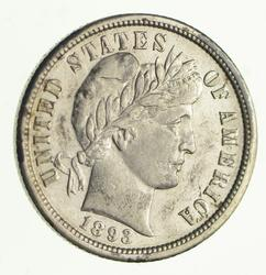 1893-O Barber Silver Dime - Circulated