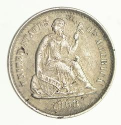 1868-S Seated Liberty Silver Half Dime - Circulated