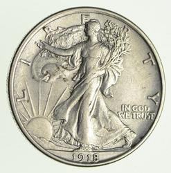 1918 Walking Liberty Silver Half Dollar - Circulated