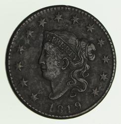 1819 Matron Head Large Cent - Circulated
